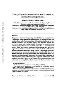 Fitting of dynamic recurrent neural network models to sensory stimulus ...