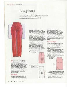 Fitting Thighs (July 2002) - Sew News