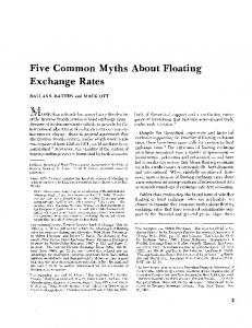 Five Common Myths About Floating Exchange Rates