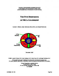 Five Dimensions of Meta-Leadership - CDC Foundation