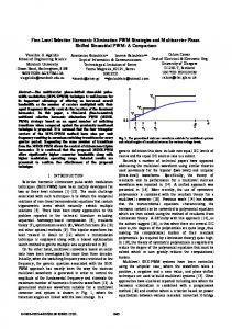 Five-Level Selective Harmonic Elimination PWM Strategies and ... - Core