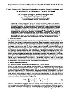 Fixed Beamwidth Electronic Scanning Antenna Array Synthesis and Its