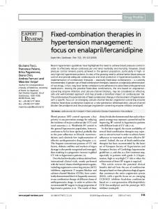 Fixed-combination therapies in hypertension