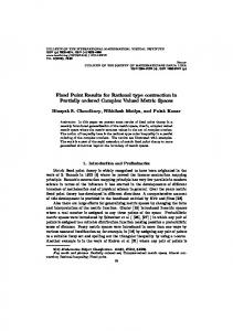 Fixed Point Results for Rational type contraction in Partially ... - imvibl