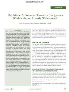 Flat Mites: A Potential Threat to Turfgrasses ...