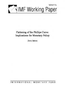 Flattening of the Phillips Curve - Papers.ssrn.com
