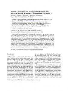 Flavone Composition and Antihypercholesterolemic and ...