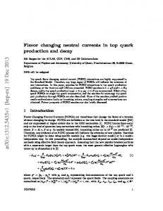 Flavor changing neutral currents in top quark production and decay
