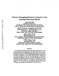 Flavour-Changing Neutral Currents in the Dualized Standard Model