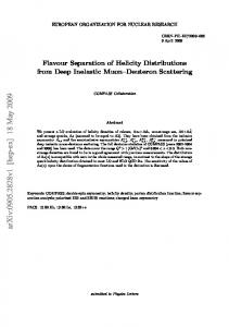 Flavour Separation of Helicity Distributions from Deep Inelastic Muon ...