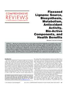Flaxseed Lignans: Source, Biosynthesis ... - Wiley Online Library
