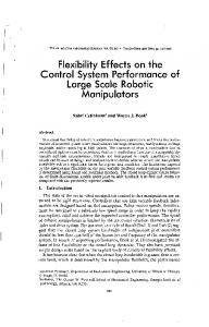 Flexibility Effects on the Control System Performance of Large Scale ...