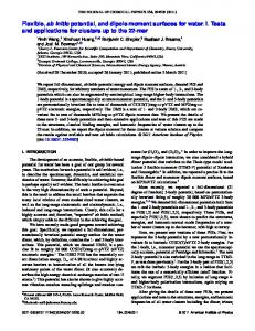 Flexible, ab initio potential, and dipole moment surfaces ... - AIP Journals