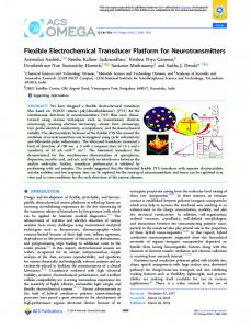 Flexible Electrochemical Transducer Platform for ... - ACS Publications