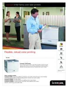 Flexible, robust color printing