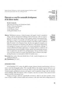 Flexicurity as a tool for sustainable development of the labour market