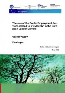 'Flexicurity' in the European Labour Markets