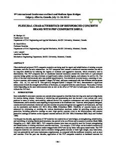 flexural characteristics of reinforced concrete beams