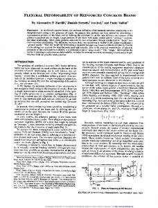 FLEXURAL DEFORMABILITY OF REINFORCED CONCRETE BEAMS