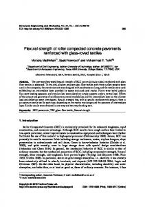 Flexural strength of roller compacted concrete ...