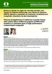 Flexural strengthening of reinforced concrete beams with carbon fibers