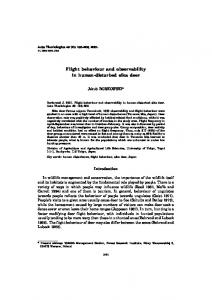 Flight behaviour and observability in human-disturbed sika deer ...