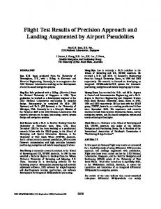 Flight Test Results of Precision Approach and Landing Augmented by ...