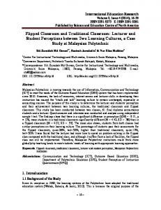 Flipped Classroom and Traditional Classroom: Lecturer ... - CiteSeerX