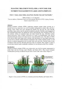 FLOATING TREATMENT WETLANDS: A NEW TOOL FOR NUTRIENT ...
