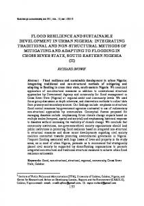 flood resilience and sustainable development in urban nigeria