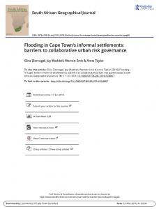 Flooding in Cape Town's informal settlements