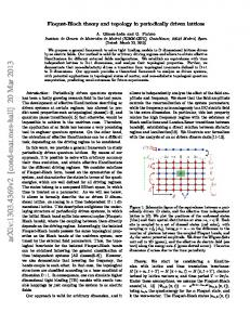 Floquet-Bloch theory and topology in periodically driven lattices - arXiv
