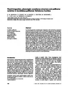 Floral integration, phenotypic covariance ... - Wiley Online Library