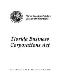 Florida Business Corporations Act