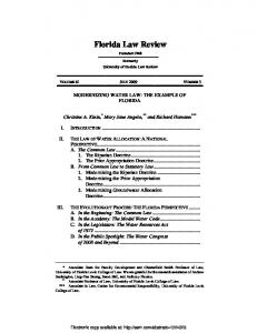 Florida Law Review - SSRN papers