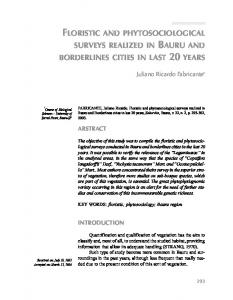 floristic and phytosociological surveys realized in