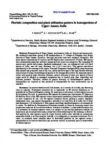 Floristic composition and plant utilization pattern in