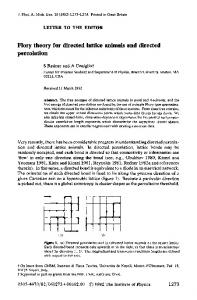Flory theory for directed lattice animals and directed percolation