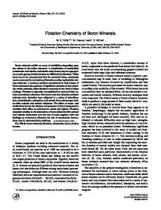 Flotation Chemistry of Boron Minerals - Science Direct