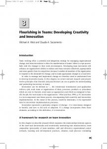 Flourishing in Teams: Developing Creativity and Innovation