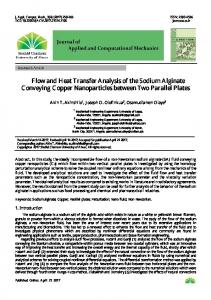 Flow and Heat Transfer Analysis of the Sodium Alginate Conveying