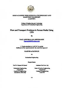 Flow and Transport Problems in Porous Media Using ...