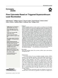 Flow cytometer based on triggered ... - Wiley Online Library