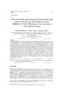 Flow-cytometric determination of intracellular pH,
