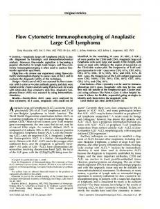 Flow Cytometric Immunophenotyping of Anaplastic Large Cell ...