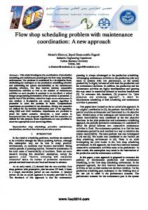 Flow shop scheduling problem with maintenance ...