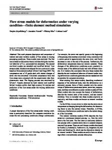 Flow stress models for deformation under varying condition ... - QForm
