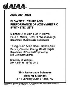 FLOW STRUCTURE AND PERFORMANCE OF AXISYMMETRIC ...