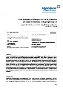 Flow synthesis of phenylserine using threonine ... - BioMedSearch