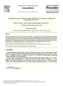Flow Theory and Online Marketing Outcomes: A ... - ScienceDirect